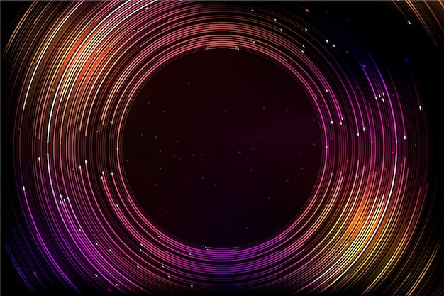 Colorful futuristic background with round lines