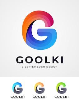 Colorful g letter logo design