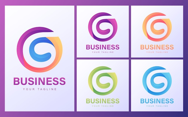 Colorful g letter logo with a modern concept