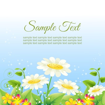 Colorful garden flower card