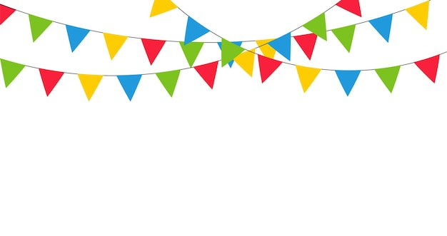 Colorful garland decoration for carnival, holiday, birthday and festival.