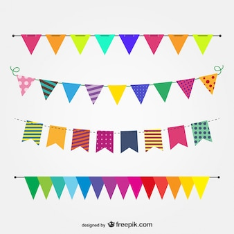 Colorful garlands for a party