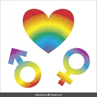 Icone colorate di genere