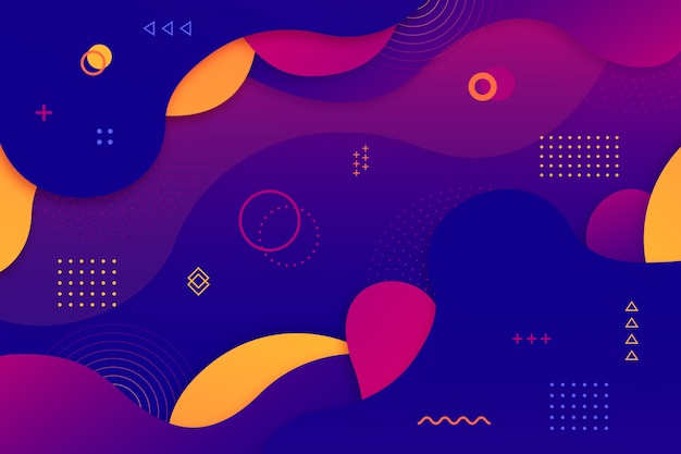 다채로운 기하학적 추상 배경