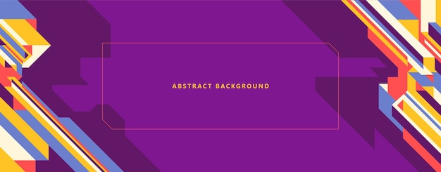 Colorful geometric abstract banner Premium Vector