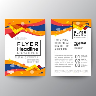Colorful geometric abstract brochure