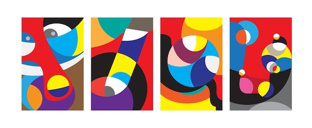다채로운 기하학적 매력적인 패턴 배경