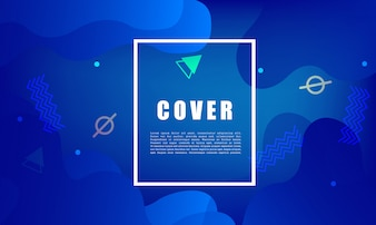 Colorful geometric background. Fluid shapes composition. design for poster, flyer, vector