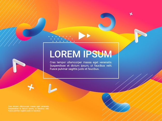 Colorful geometric background. fluid shapes composition. dynamic shapes composition