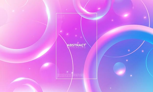 カラフルな幾何学的な背景。トレンディなグラデーションシェイプの構成。ポスターのクールな背景デザイン。ベクトルイラスト