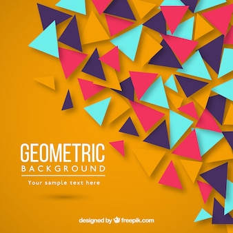 삼각형 화려한 기하학적 배경