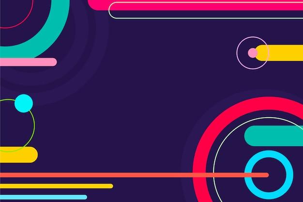 다채로운 기하학적 배경