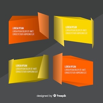 Colorful geometric banner pack