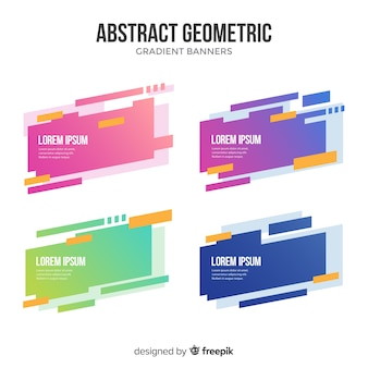 Colorful geometric banner
