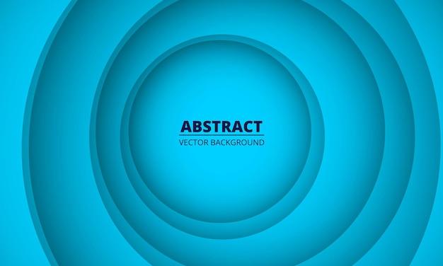 동그라미 종이로 다채로운 기하학적 블루 추상 텍스처 잘라 배경.