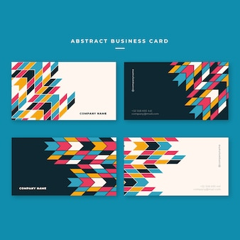 Colorful geometric business card template
