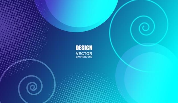 Colorful geometric circle shapes  background .