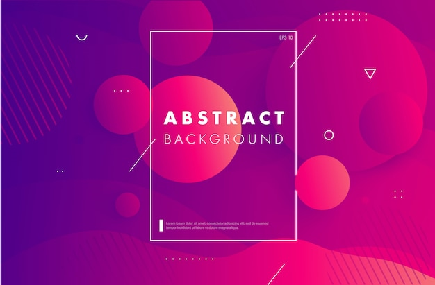 Colorful geometric  circul shapes composition.