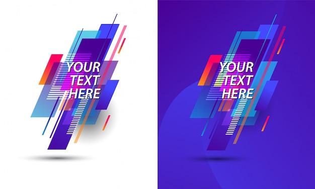 Colorful geometric design template