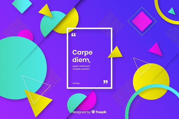 Colorful geometric elements collection background