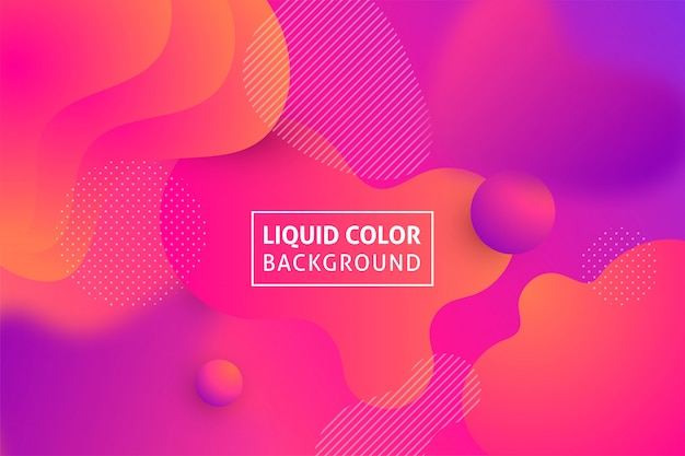 Colorful geometric fluid shapes background.