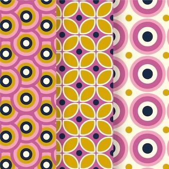 Коллекция красочных геометрических заводных узоров