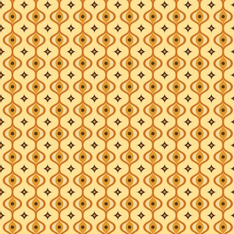Colorful geometric groovy pattern