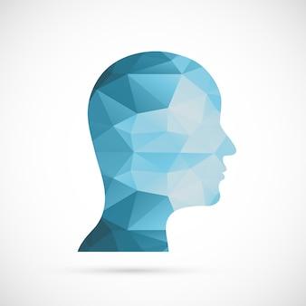 Красочный геометрический дизайн головы