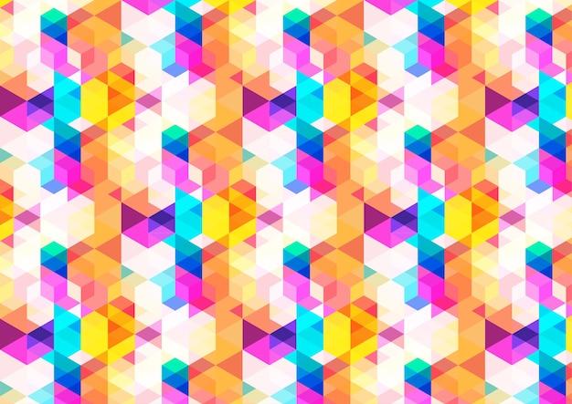 Colorful geometric jewelry pattern background
