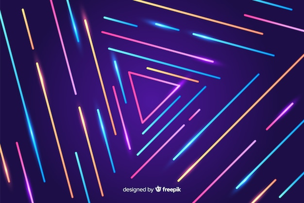 Colorful geometric lines abstract background