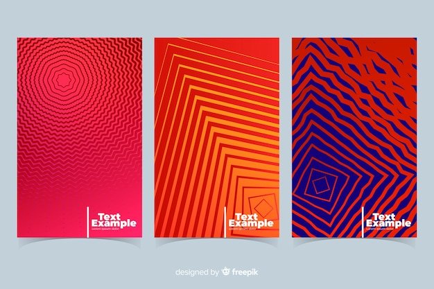 Colorful geometric lines brochure collection