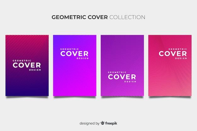 Colorful geometric lines brochure pack