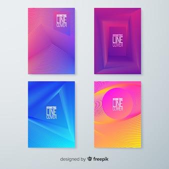 다채로운 기하학적 라인 커버 컬렉션