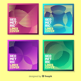 Colorful geometric lines cover pack