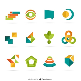 Colorful geometric logos