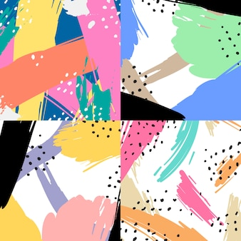 Colorful geometric memphis style background