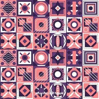 Colorful geometric mosaic background