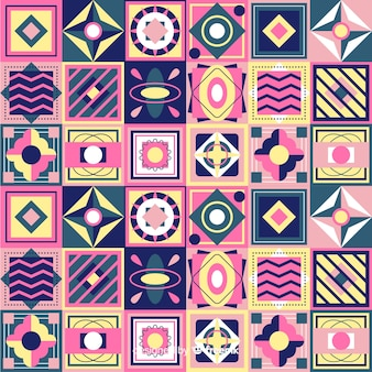 Colorful geometric mosaic background
