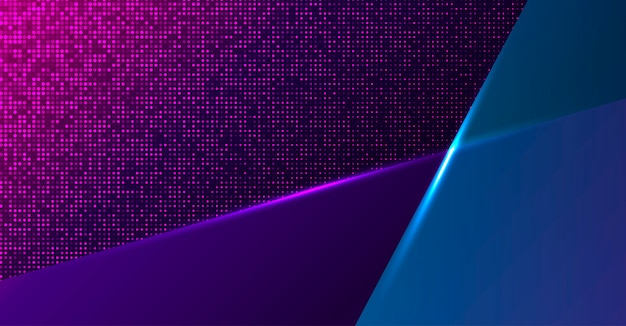 Colorful geometric neon background