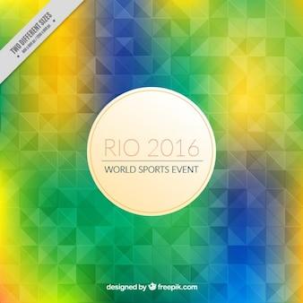 カラフルな幾何学的なリオ2016背景