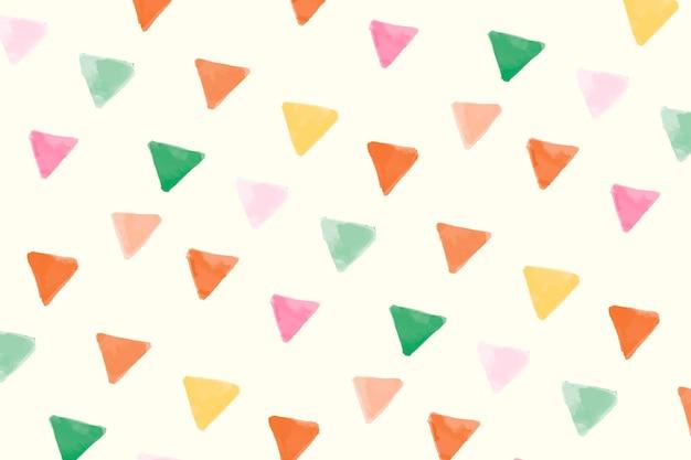 カラフルな幾何学的なシームレスパターンの背景デザイン
