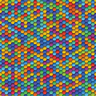 Colorful geometric seamless pattern with paper cut realistic elements