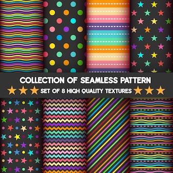 Colorful and geometric seamless pattern