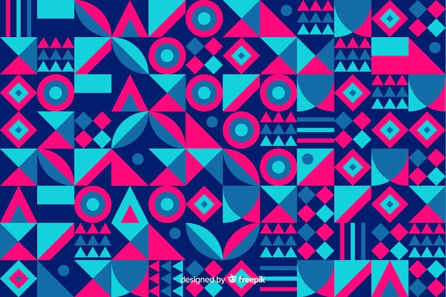Colorful geometric shape mosaic background