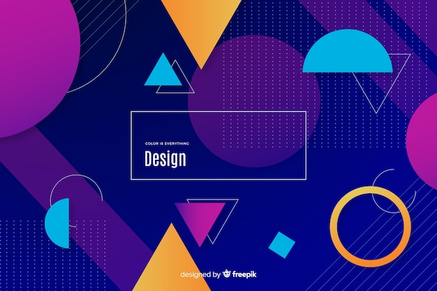 Colorful geometric shapes background concept