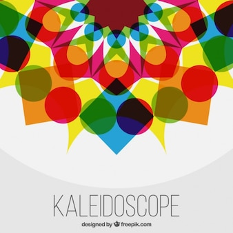 Colorful geometric shapes background with kaleidoscope effect