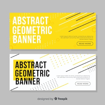 Colorful geometric shapes banner