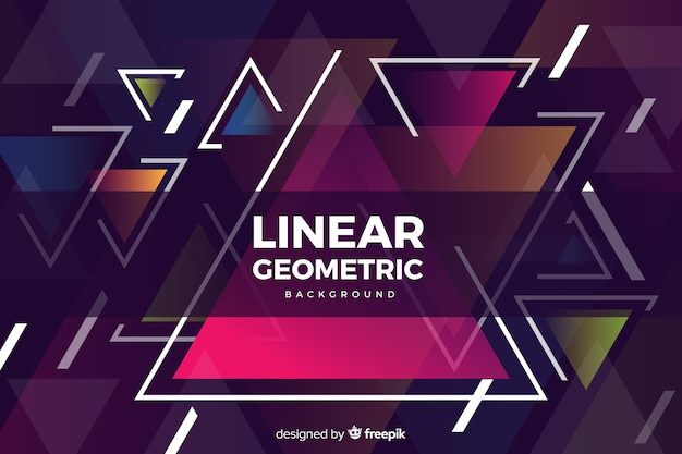 Colorful geometric shapes in flat design