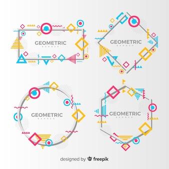 カラフルな幾何学的図形フレームバナー