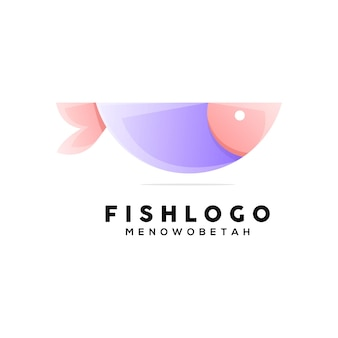 Красочная геометрическая иллюстрация рыбы